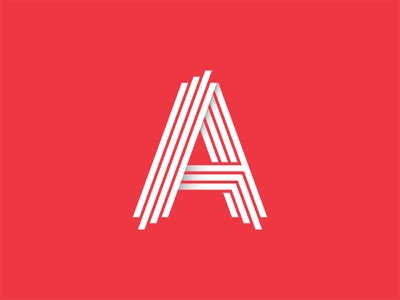 Another day/week/year another A marque visual  identity visual logo shape brand artworked