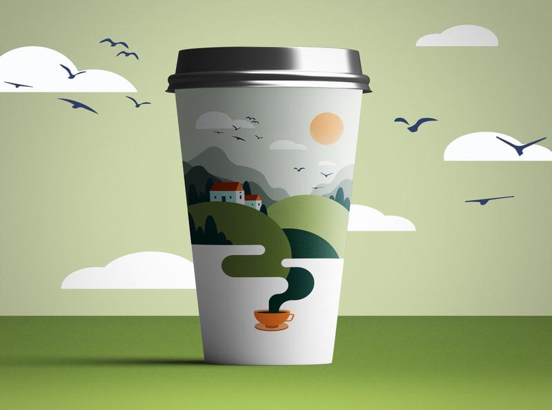 Package design landscape illustration design illustration vector package design