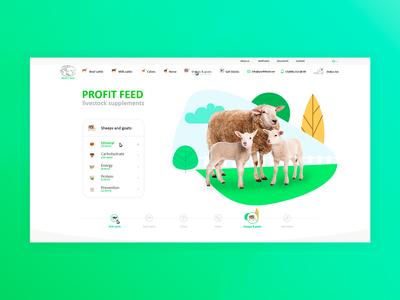 site catalog for animals food vector home service site platform company web ui design ux page web design home page food illustration farm animal catalog