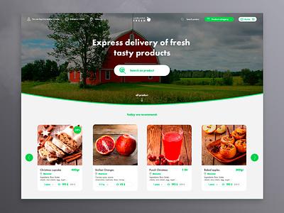 farm marketplace | home page web design service platform site company web ui design ux vegetables food natural page home marketplace farm