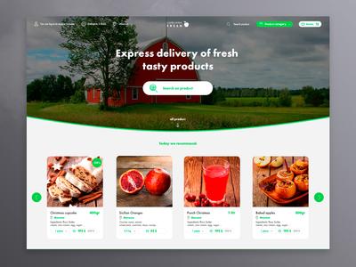 farm marketplace   home page web design service platform site company web ui design ux vegetables food natural page home marketplace farm