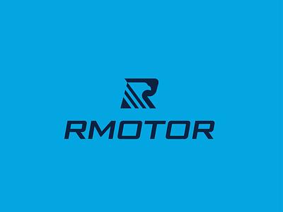 LOGO RMOTOR + EAGLE + R power strong fast typography dynamic flat modern design logo logo design brand eagle letter r letter