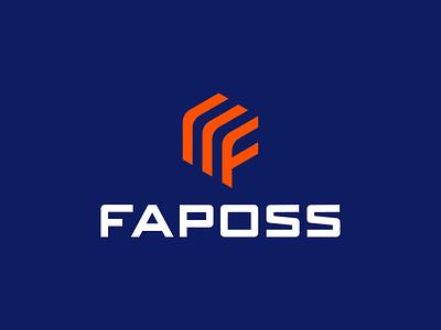 LOGO FAPOSS - LETTER F + STOCK letter f stock building company build creative modern branding logo logo design brand