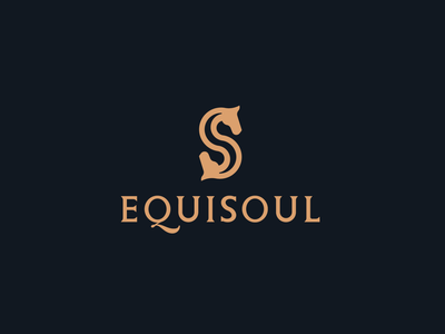 LOGO EQUISOUL S+S+HEAD OF HORSE dynamic logo design creative modern branding logo brand quality luxury soul letter s horse