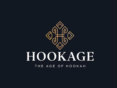LOGO  Hookage - Letter H + Orient letter h hookah hook oriental lxury dynamic line art creative modern branding design vector logo logo design brand