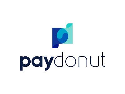 LOGO PAYDONUT APPLICATION helpful connection fresh vector monogram letter flat creative modern logo logo design brand donut pay application