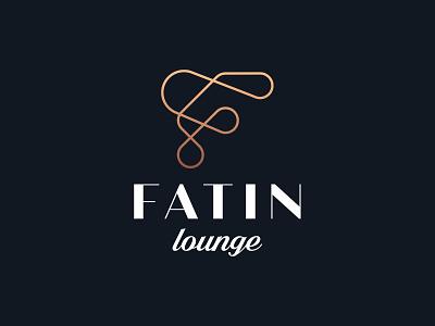 LOGO FATIN LOUNG letter f letter line art modern logo logo design brand lounge pipe smouke hookah