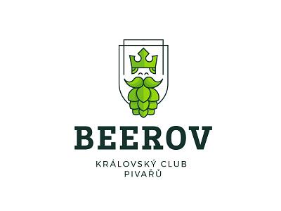 LOGO FOR BEER SHOP crown leaf green fresh creative modern vector logo logo design brand hop king shop beer