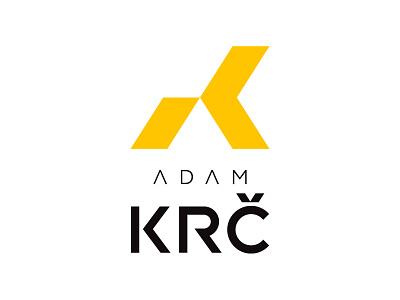 LOGO ADAM KRC shadow architecture architect fresh letter creative modern branding design vector letter k logo logo design brand