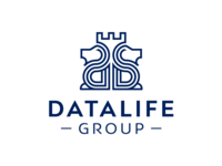LOGO DATA LIFE - Two lions protect our finances
