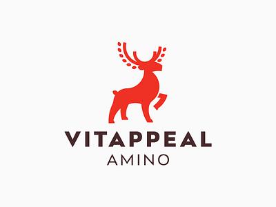 LOGO - DEER + POWER logo logodesign deer vital vitality power amino fitness brand energy modern dynamic vector czech design creative branding ilustration logo design health