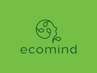 LOGO ECOMIND - LEAF + MIND