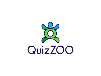 LETTER Q+TURTLE animals game quiz logo design modern logo brand zoo turtle letter