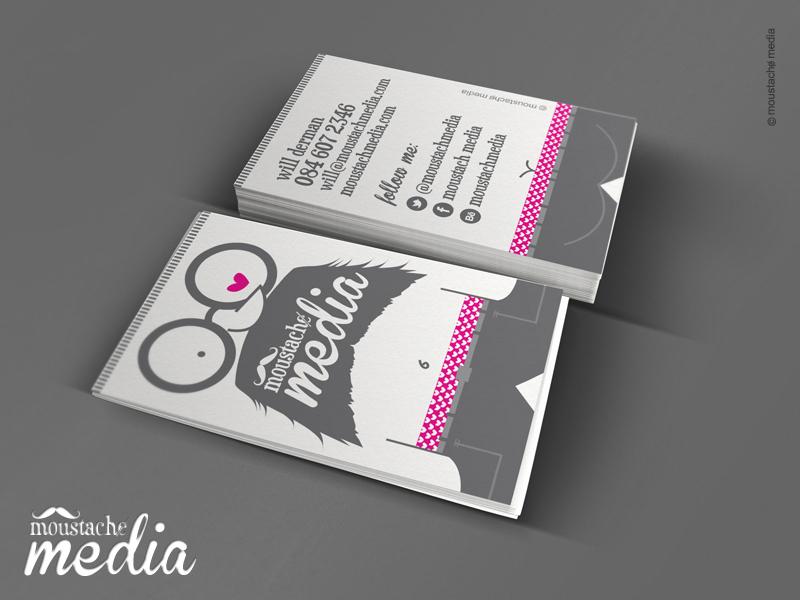 Moustachɇ Media Business Card business cards creative stationery creative branding branding design