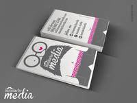 Moustachɇ Media Business Card