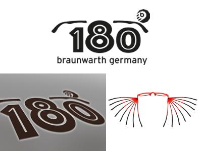 180°-Icon  soccerfont bw glasses logo icon