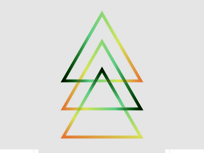 Triangle space triangle graphics