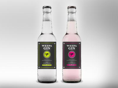 Wespa Gin Label alcohol label identity modern drink animal graphics logo labeldesign