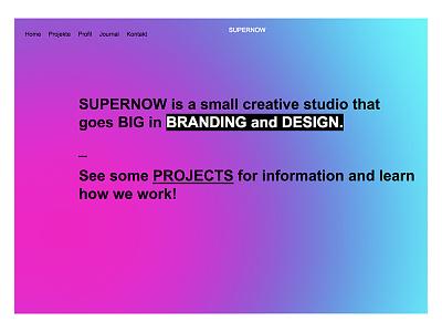 homepage studio reduced gradient webdesign