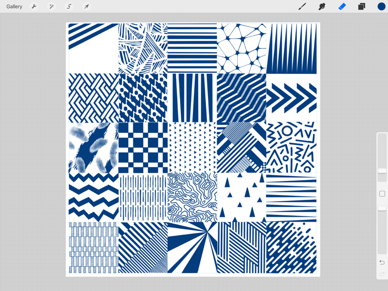 Pattern play for new kits? sketching apple pencil patterns ipad pro