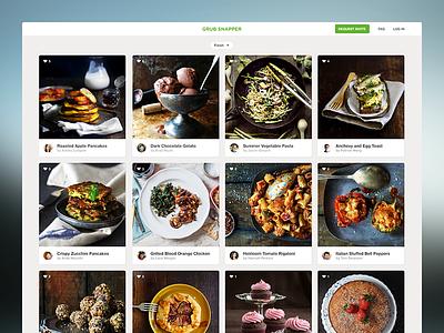 Grub Snapper 2.0 flat clean minimal food cards