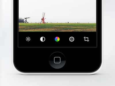Camera App camera photo photo editing ios mobile photography clean flat icons