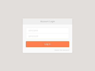 Account Login Form user interface form login form sign in ui flat interface log in minimal clean
