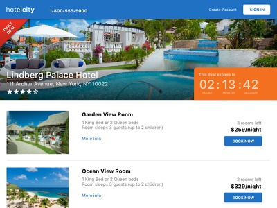 Daily UI #003 - Landing Page travel web vacation landing page