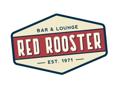 Red Rooster restaurant bar retro logo