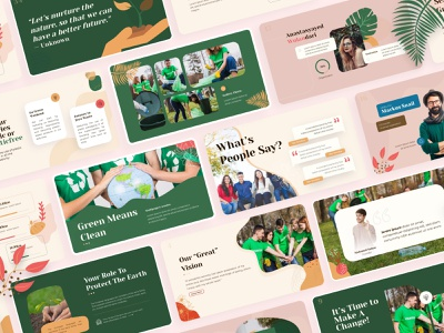 Nature and Environtment Powerpoint Template nature world natural global warming motherearth planet creative slides design ecommerce green earth presentation design keynote powerpoint