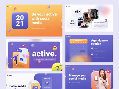 Social Media Pitch Desk powerpoint presentation business ui branding design creative 3d pitch infographic startup ux slide pitch deck design keynote desk template typogaphy personal layout