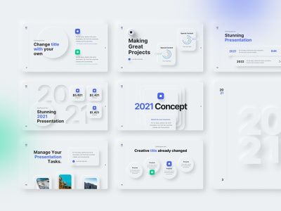 2021 Ultimate PowerPoint Presentation Template template ppt slides neumorphic trends 2021 powerpoint presentation motion graphics branding graphic design animation