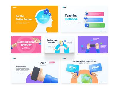 3Deck Education Creative PowerPoint Template 3d assets slides powerpoint template creative presentation design design school education ux pitchdeck presentation powerpoint trends animation branding motion graphics graphic design 3d