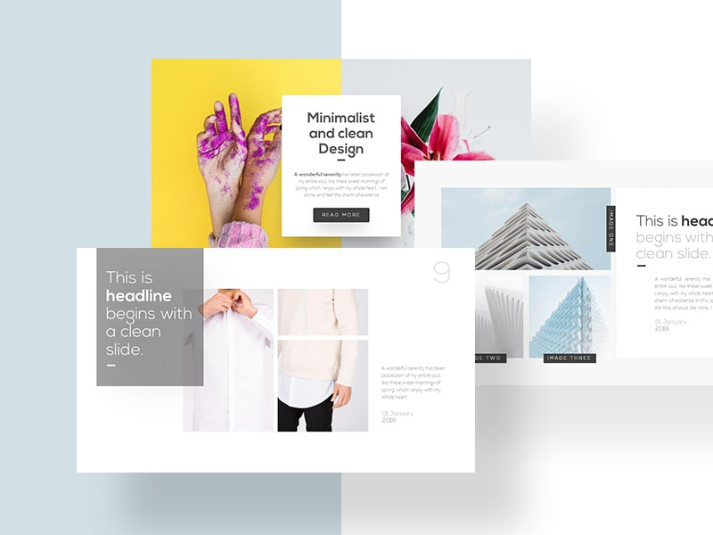 native minimalist powerpoint template by rrgraph dribbble dribbble