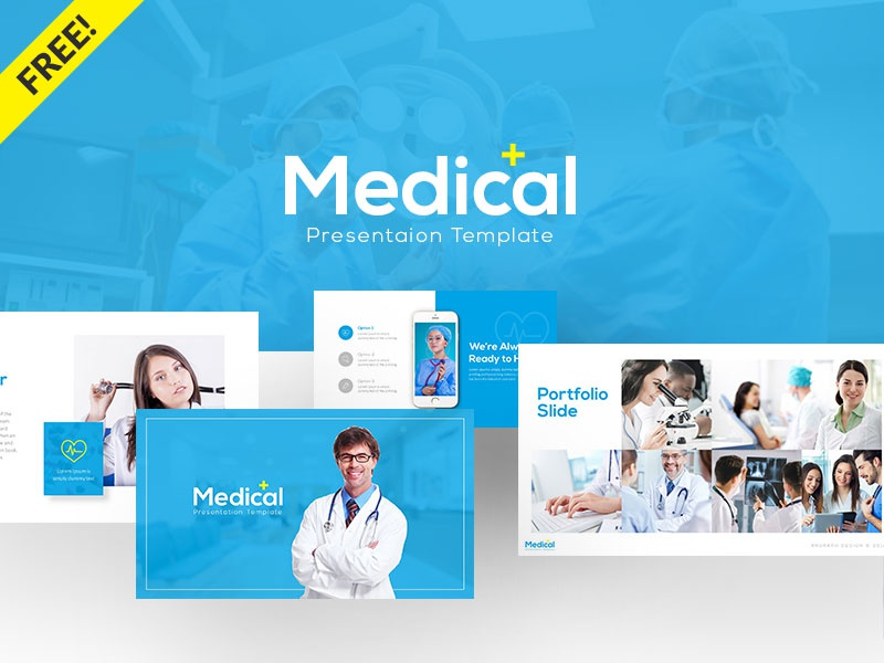 Free Medical Presentation Template presentation powerpoint pitch deck pharmacy medicine medical laboratory hospital health freebies freebie free