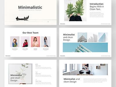 Free Minimalistic Powerpoint Template clean chart business biz animated analysis agency freebies freebie free