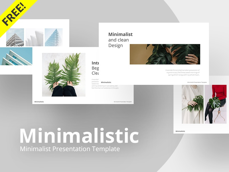 Free Minimalistic Powerpoint Template By Rrgraph Dribbble Dribbble