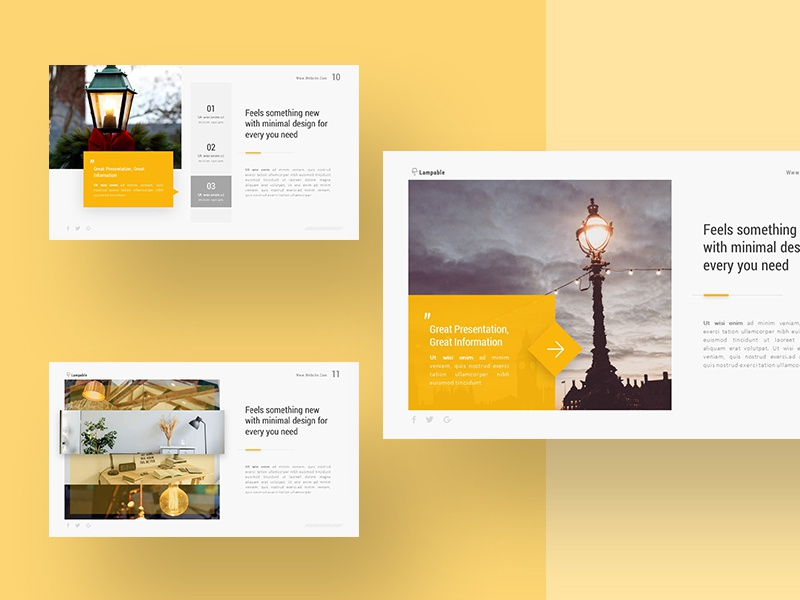 lampable creative presentation template by rrgraph dribbble