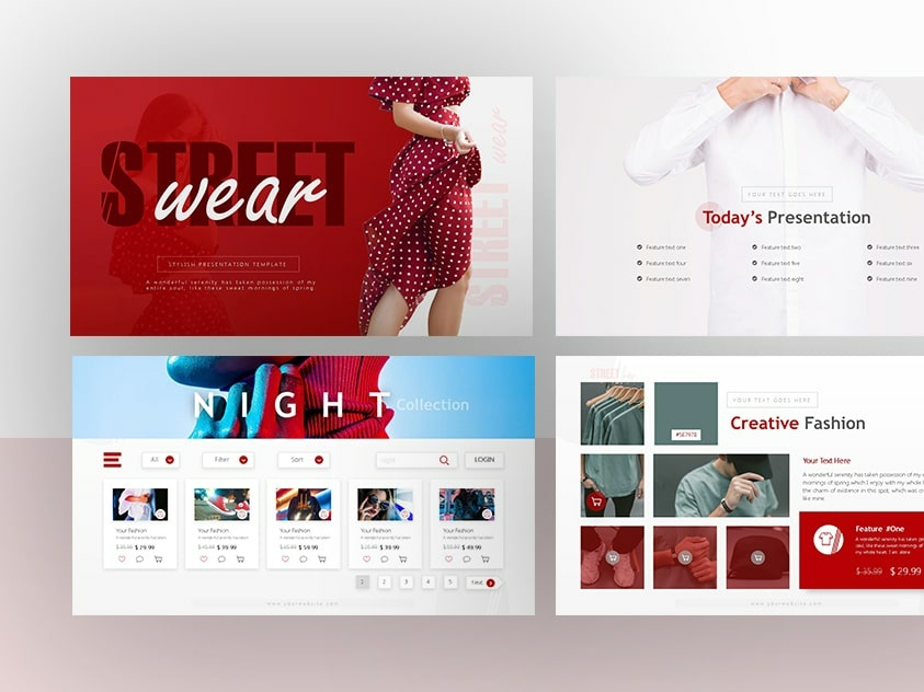 Streetwear Fashion Powerpoint And Keynote Template By
