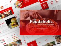 Foodaholic – Food Powerpoint and Keynote Template