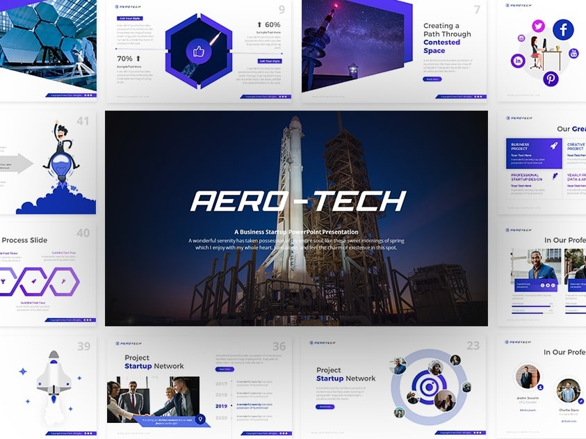 Aerotech Technology Powerpoint And Keynote Template By