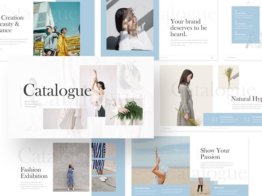 Catalogue – Fashion Minimalist Powerpoint and Keynote