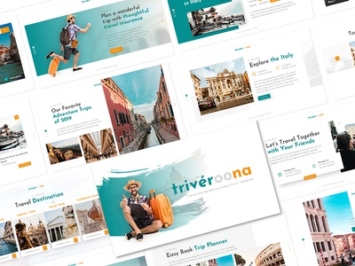 Triveroona – Travelling Powerpoint and Keynote Template