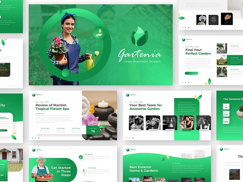 Gartenia - Gardening Powerpoint and Keynote Template by RRGraph on