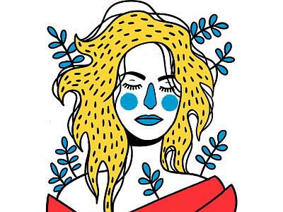 Lora Palmer twin peaks leafs flora beautiful neighbor girl colour art fan woman