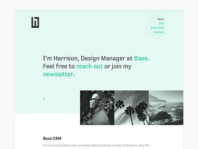 Personal Website Refresh ux product designer management html hero design web portfolio