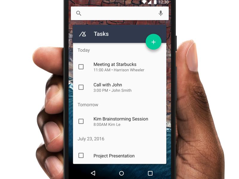Tasks Widget material design material android productivity widget tasks crm base
