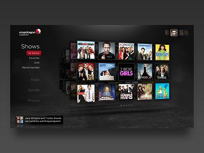 Qualcomm Snapdragon Set Top Box UI interface tv ux ui
