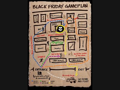 Call of Duty Black Friday Game Plan hand drawn art illustration
