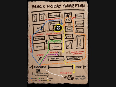Call of Duty Black Friday Game Plan hand drawn art illustration